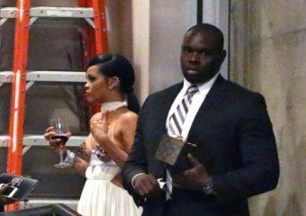 Rihanna spotted leaving the amfAR Inspiration Gala October 29, 2014 rihanna-fenty.com