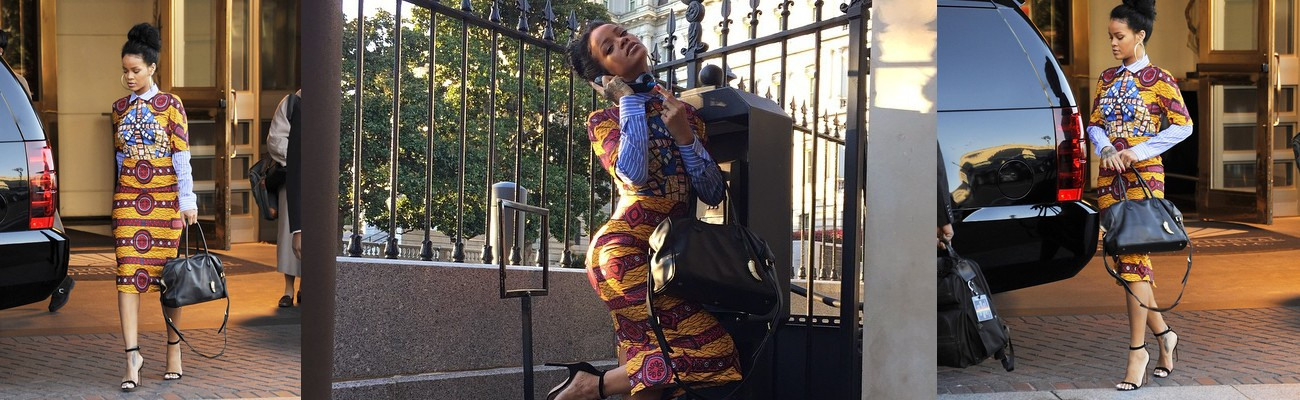 Rihanna visits the White House