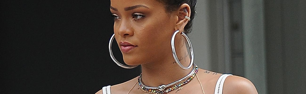 Rihanna out in NY today