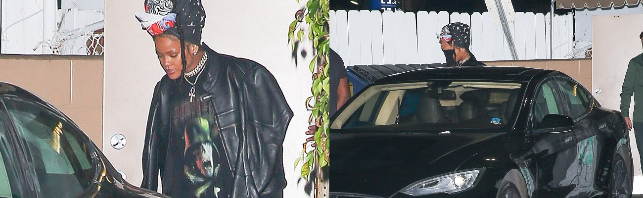 Rihanna dines in Los Angeles