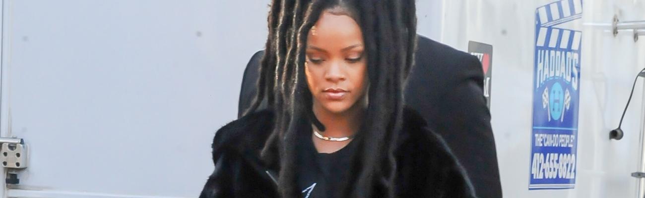 Rihanna on the set of Ocean's Eight