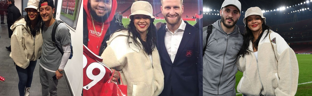 Rihanna attends Arsenal game in London Rihanna Online