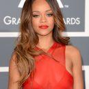 Rihanna at 2013 Grammy Awards Red Carpet Arrivals
