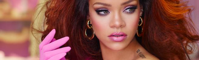 Rihanna on the set of RiRi campaign