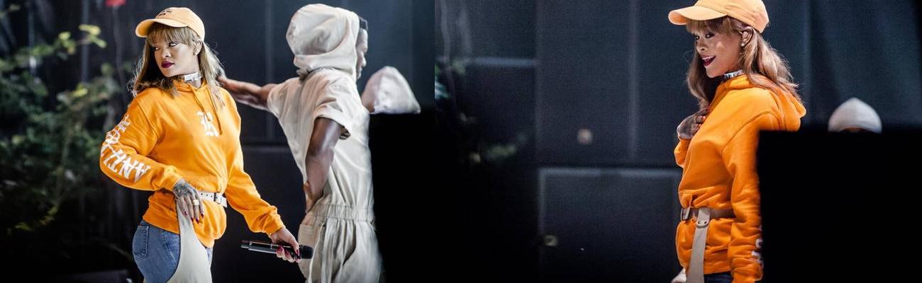 Rihanna performs at Smukfest in Denmark
