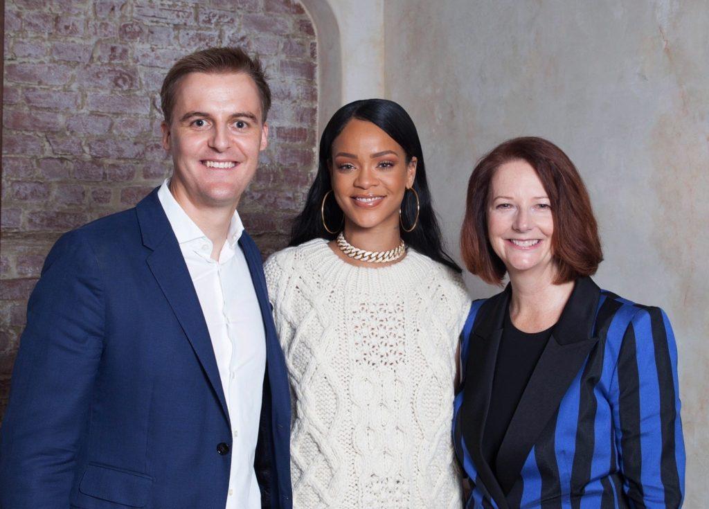 Rihanna and Julia Gillard and Hugh Evans