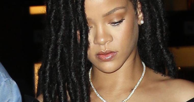 Rihanna at a nail salon in NYC