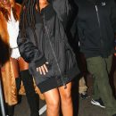 Rihanna arrives for a Halloween party at the Marquee New York on October 29, 2016