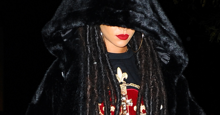 Rihanna goes out in New York