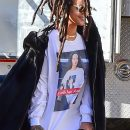 Rihanna shows her support for Hillary Clinton on November 8, 2016