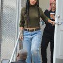 Rihanna on the set of Ocean's Eight on November 10, 2016 leaving the trailer