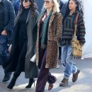 Rihanna, Cate Blanchett and Sandra Bullock on set of Ocean's Eight in New York on November 7, 2016 wearing jeans