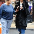 Rihanna steps out on the set of Ocean's Eight on November 9, 2016 with the owner of the building
