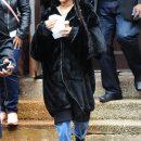 Rihanna steps out on the set of Ocean's Eight on November 9, 2016 dreadlocks