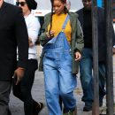 Rihanna photographed on the set of Ocean's Eight on November 4, 2016 overall