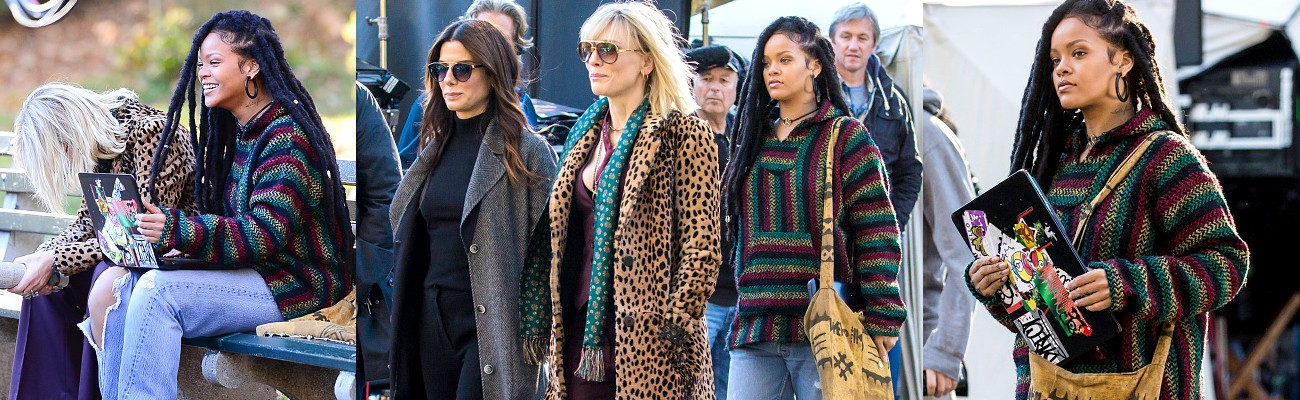Rihanna, Cate Blanchett and Sandra Bullock film in New York [photos+videos]