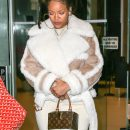 Rihanna dines at The Spotted Pig in New York on December 6, 2016 Beige Coat