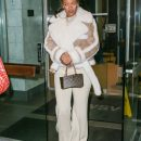 Rihanna dines at The Spotted Pig in New York on December 6, 2016 Louis Vuitton Bag