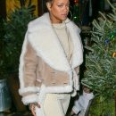 Rihanna dines at The Spotted Pig in New York on December 6, 2016 Dreadlocks