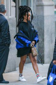 Rihanna heads to Ocean's Eight set on January 12, 2017 Dreadlocks