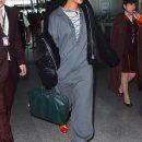 Rihanna left New York on January 25, 2017 Walking down JFK