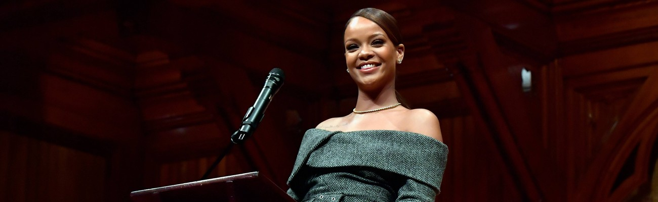 Rihanna receives Harvard Humanitarian of the Year award