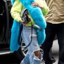 Rihanna arriving at a hotel before MET Gala on May 1, 2017