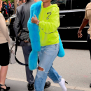 Rihanna arriving at a hotel before MET Gala on May 1, 2017 candids