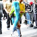 Rihanna arriving at a hotel before MET Gala on May 1, 2017 photos
