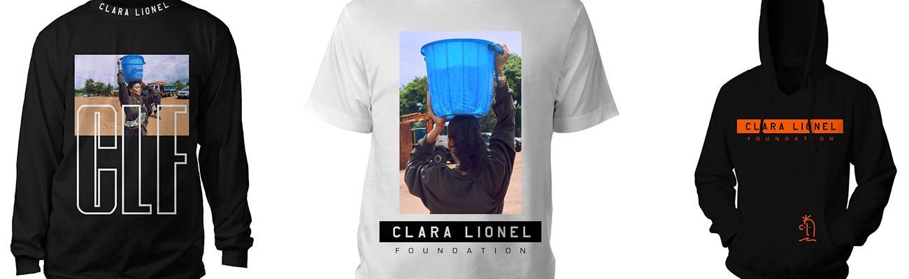 BUY NOW: Clara Lionel Foundation merchandise