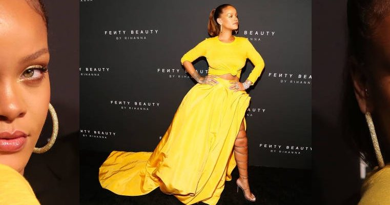 Rihanna attends Fenty Beauty launch in New York