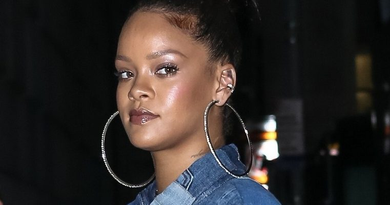 Rihanna rocks denim in New York