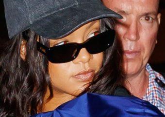 Rihanna arrives at the JFK Airport on September 17, 2017