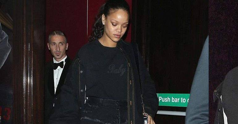 Rihanna goes out in London - September 29