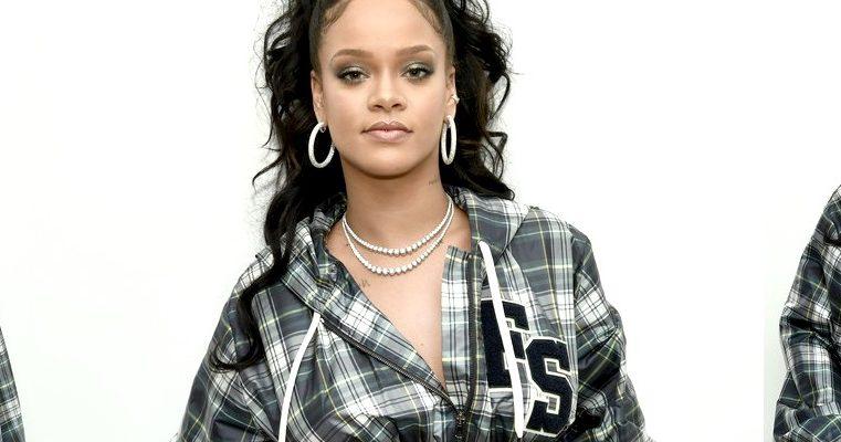 Rihanna attends Puma's pep rally