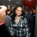 Rihanna attends Fenty Puma Pep Rally in New York on October 13, 2017
