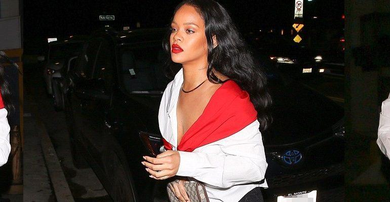 Rihanna dines at Giorgio Baldi November 11, 2017 rihanna-fenty.com