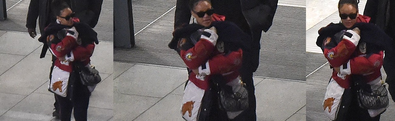 Rihanna spotted arriving in London
