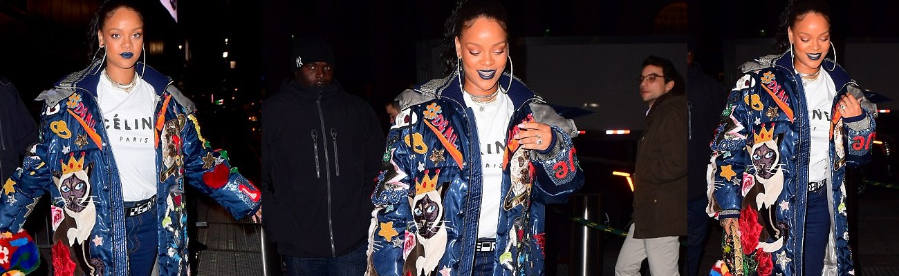 Rihanna attends Chris Rock's Total Blackout Tour