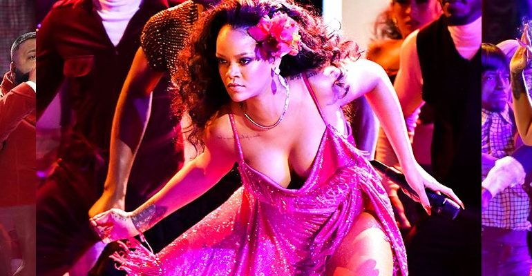 Rihanna performs Wild Thoughts at Grammy Awards