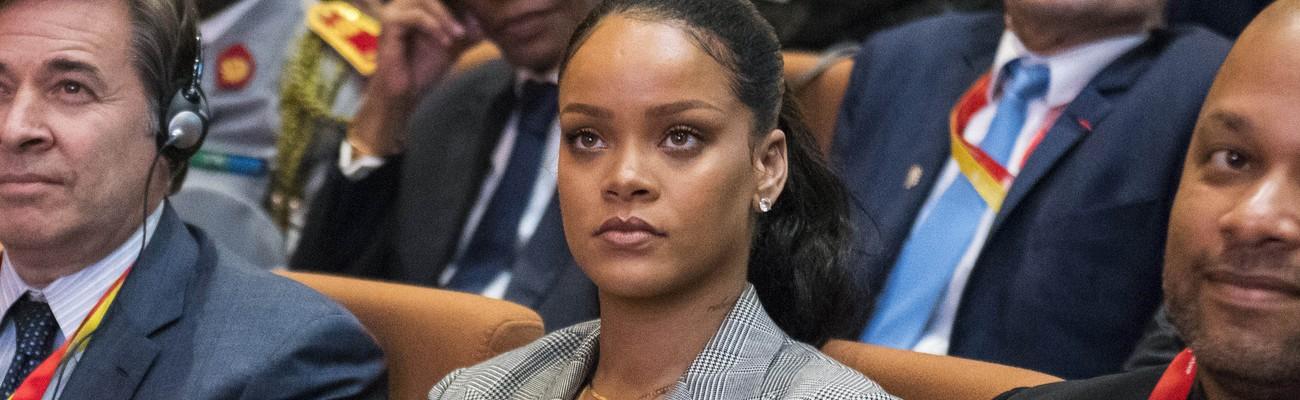Rihanna attends GPE Financing Conference in Dakar
