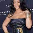 Rihanna attends Fenty Beauty launch in Milan on April 5, 2018