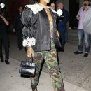 Rihanna attends Gucci store opening in New York on May 5, 2018