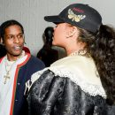 Rihanna at Gucci Wooster store opening in New York on May 5, 2018 A$AP Rocky