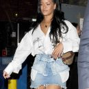 Rihanna enjoys a night out in London May 22, 2018 Helmut Lang