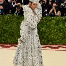 Rihanna attends 2018 Met Gala in New York on May 7, 2018 Inside