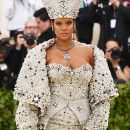 Rihanna attends 2018 Met Gala in New York on May 7, 2018 Maison Margiela