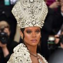 Rihanna attends 2018 Met Gala in New York on May 7, 2018 John Galliano