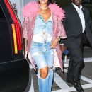 Rihanna out in New York City on May 5, 2018 Boyfriend jeans