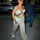 Rihanna spotted out and about in NYC on May 4, 2018 Margiela